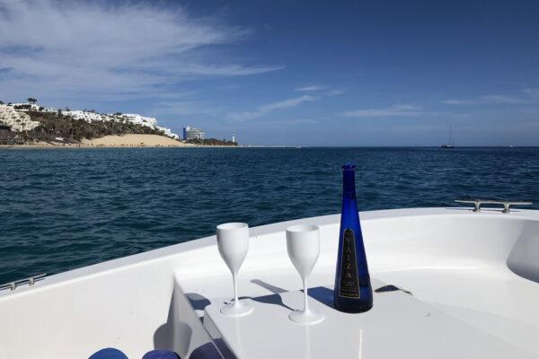 Excursión a bordo de una lancha en Fuerteventura